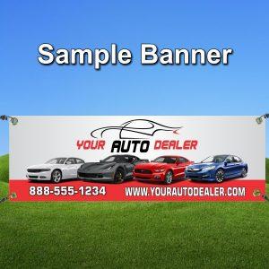 Auto Dealer Sample Banner