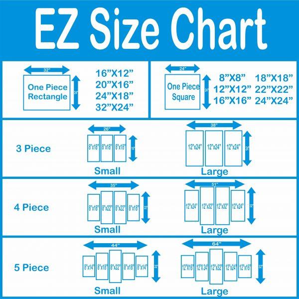 Canvas Print EZ Size Chart