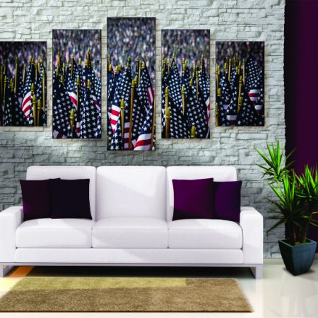 Field of Flags Canvas Print