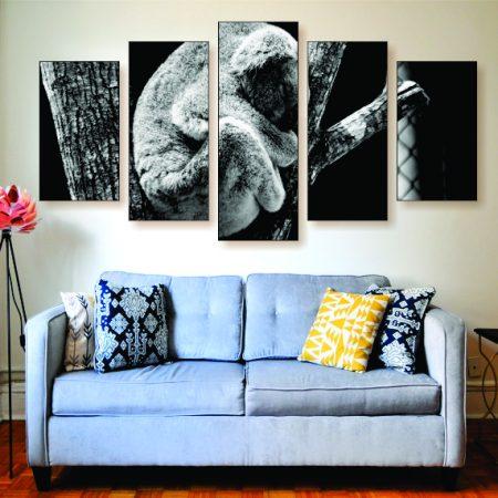 Sleepy Koala Canvas Print