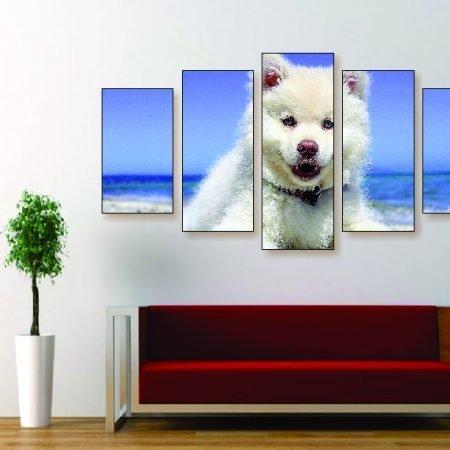 Samoyed Puppy Canvas Print