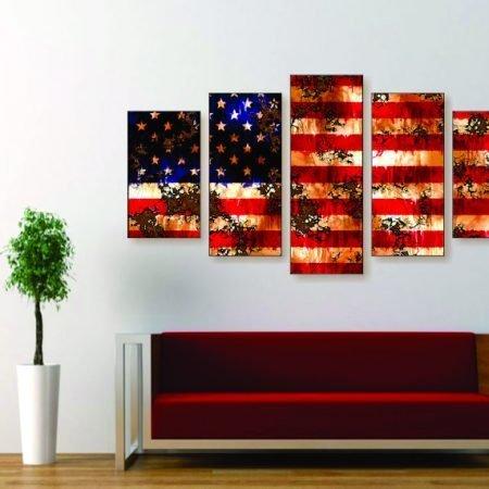 Tattered American Flag Canvas Print