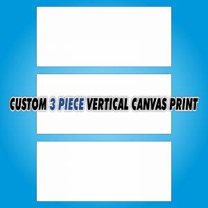 Custom Canvas Print - 3 Piece Vertical