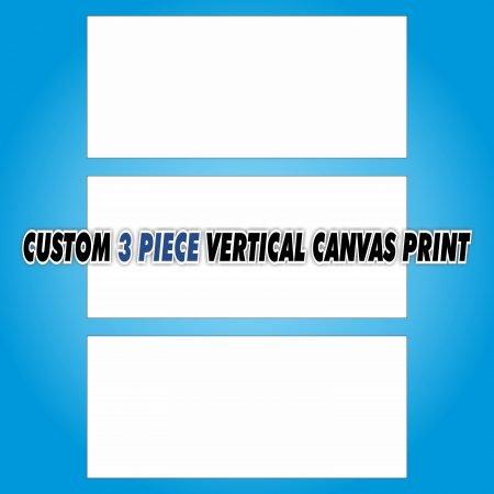 Custom 3 Piece Vertical Canvas Print