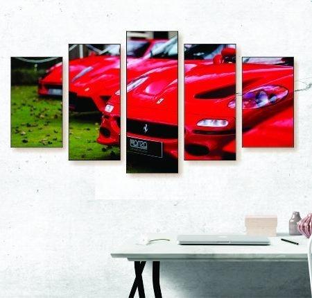Ferrari Row Canvas Print