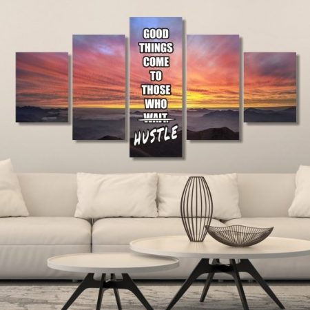 Don't Wait, Hustle Canvas Print