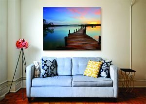 Sunset Lake Canvas Print - 1 Piece