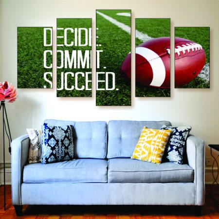 Decide. Commit. Succeed. Canvas Print