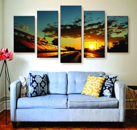Drag Strip Sunset Canvas Print