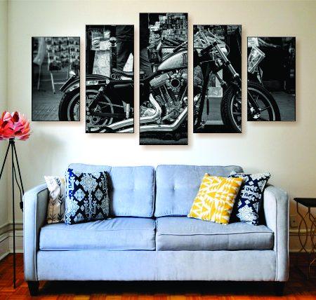 Harley Bobber Canvas Print