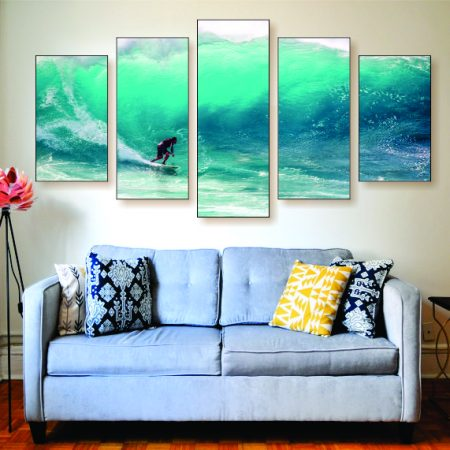 Surfing The Big Wave Canvas Print