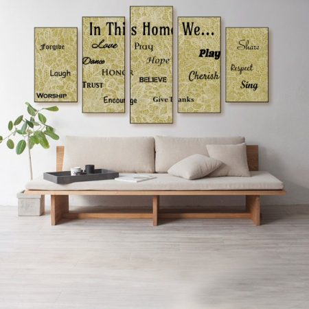In This Home Canvas Print