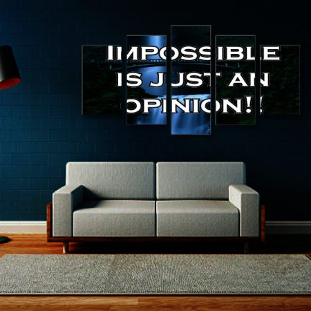 Impossible Is Just An Opinion Canvas Print